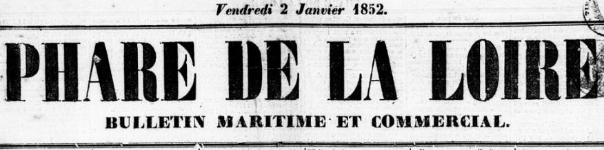 Photo (BnF / Gallica) de : Phare de la Loire. Nantes, 1844-1944. ISSN 1257-600X.