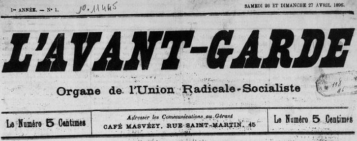 Photo (Médiathèque (Perpignan)) de : L'Avant-garde. Perpignan, 1896-1902. ISSN 2121-2139.