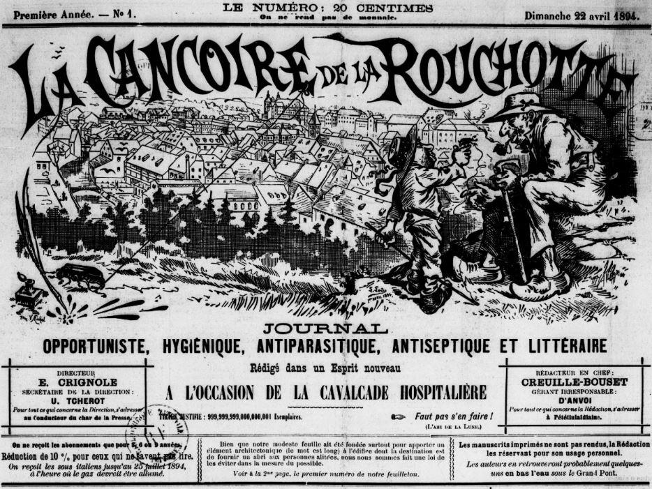 Photo (BnF / Gallica) de : Le Cancoire de la Rouchotte. Montbéliard, 1894. ISSN 2119-453X.