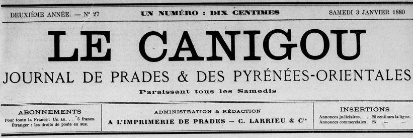 Photo (Médiathèque (Perpignan)) de : Le Canigou. Prades, 1879-1929. ISSN 2123-3667.