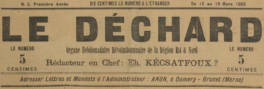 Photo (BnF / Gallica) de : Le Déchard. Damery-Brunet, 1892. ISSN 2125-3889.