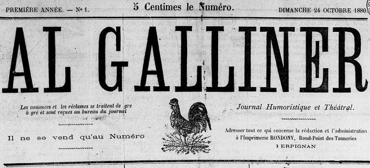 Photo (Médiathèque (Perpignan)) de : Al galliner. Perpignan, 1880-1890. ISSN 2128-4466.