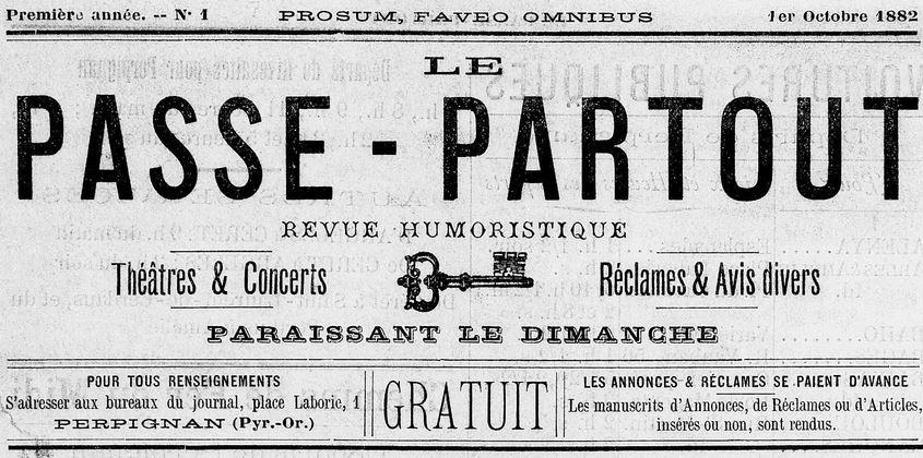 Photo (Médiathèque (Perpignan)) de : Le Passe-partout. Perpignan, 1882-1884. ISSN 2015-125X.