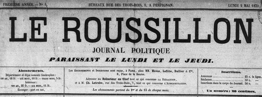 Photo (Médiathèque (Perpignan)) de : Le Roussillon. Perpignan, 1870-1944. ISSN 2137-628X.