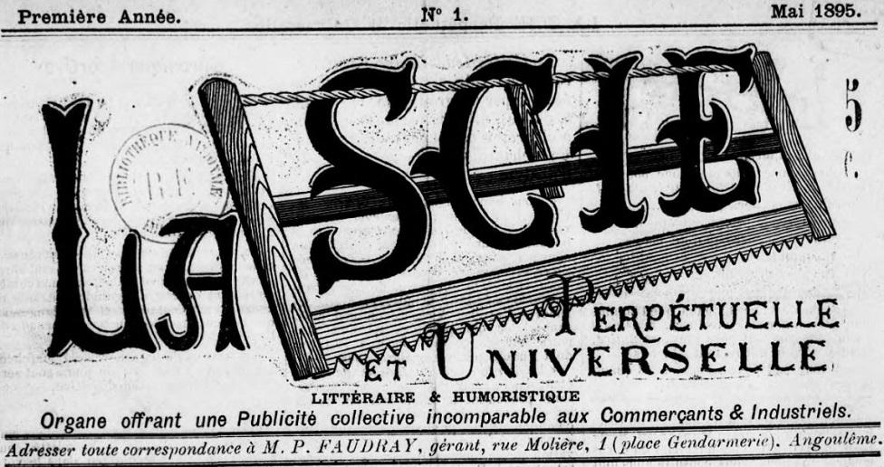 Photo (BnF / Gallica) de : La Scie perpétuelle et universelle. Angoulème, 1895. ISSN 2268-5561.