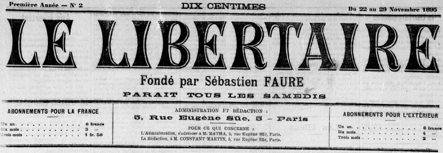 Photo (BnF / Gallica) de : Le Libertaire. Paris, 1895-1972. ISSN 1155-9071.