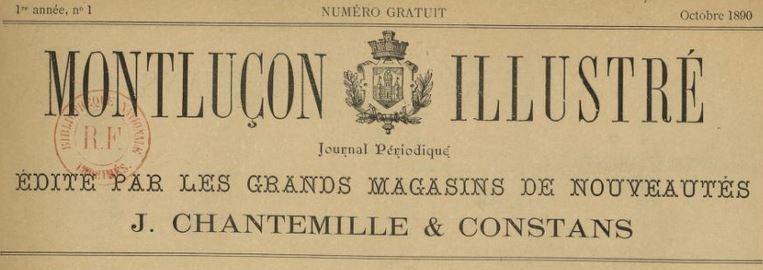 Photo (BnF / Gallica) de : Montluçon illustré. Montluçon, 1890. ISSN 2132-5693.