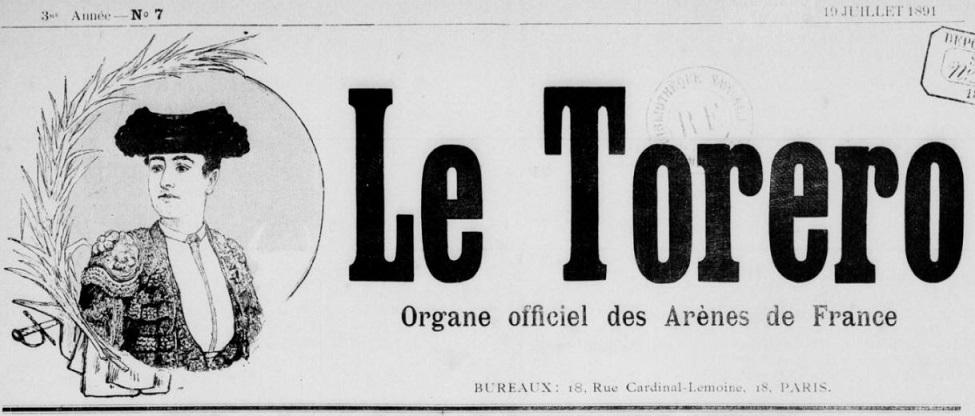 Photo (BnF / Gallica) de : Le Torero. Paris, [1891?]-1944. ISSN 2138-6900.