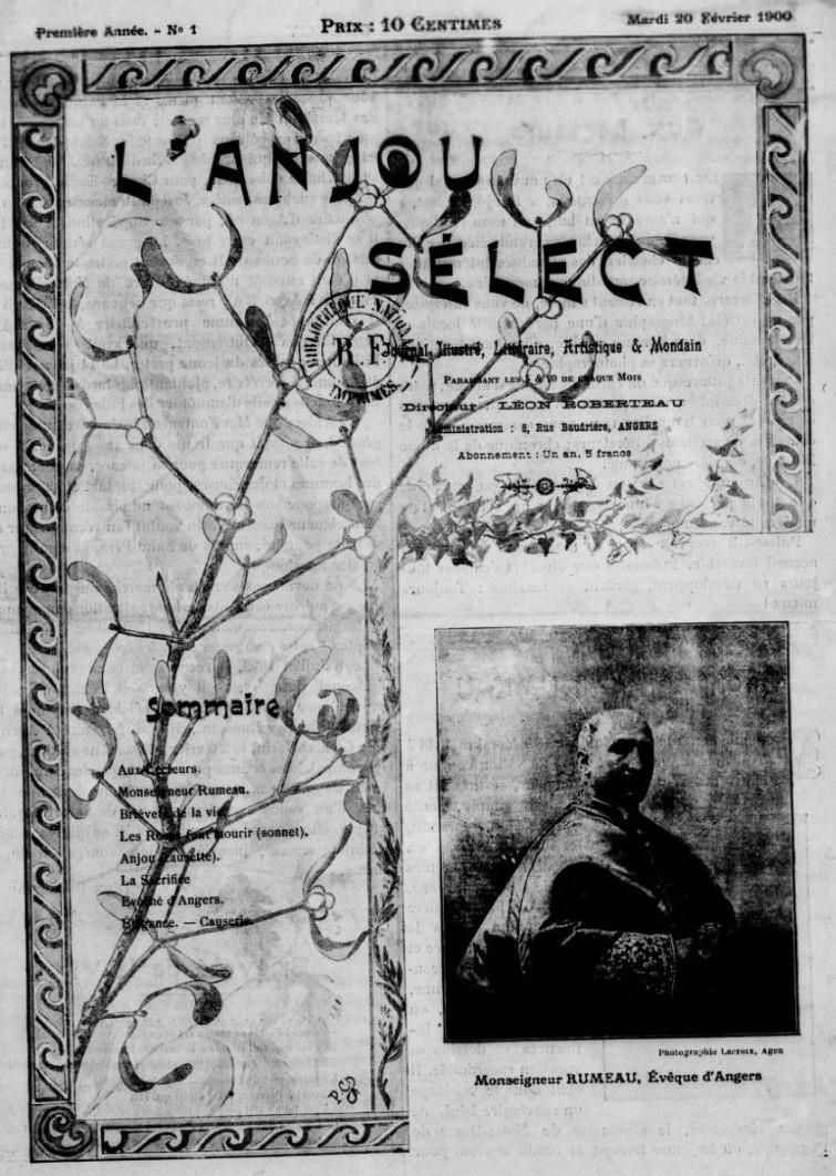 Photo (BnF / Gallica) de : L'Anjou sélect. Angers, 1900. ISSN 2120-7550.