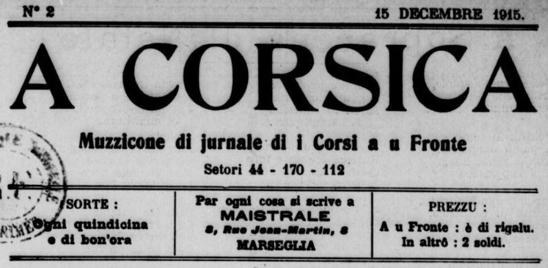 Photo (BnF / Gallica) de : A Corsica. Marseglia, 1915-1919. ISSN 2124-5371.