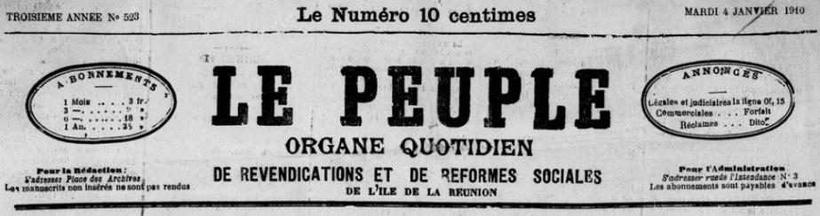 Photo (BnF / Gallica) de : Le Peuple. Saint-Denis, 1908-1958. ISSN 2429-5930.