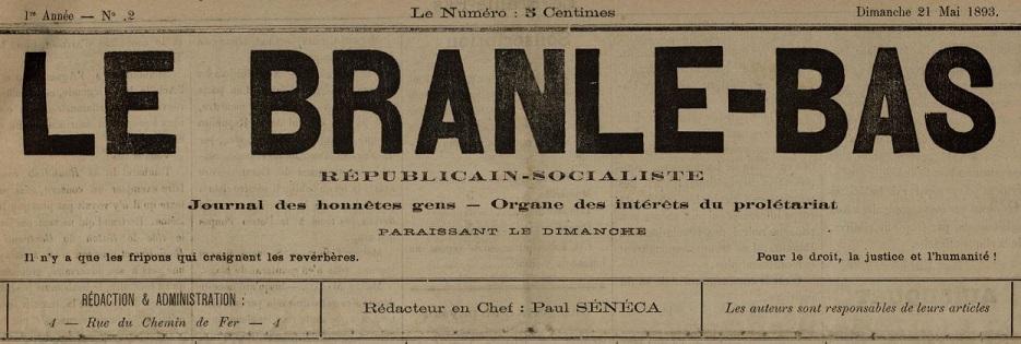 Photo (Cannes (Alpes-Maritimes). Archives municipales) de : Le Branle-bas. Cannes, 1893-[1911 ?]. ISSN 2122-2452.