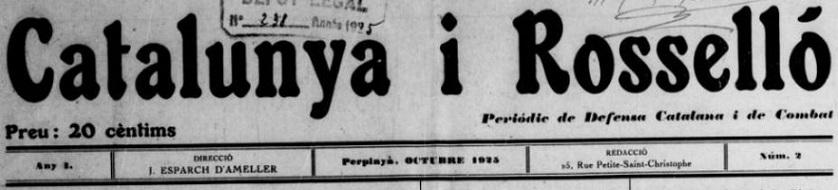 Photo (BnF / Gallica) de : Catalunya i Rosselló. Perpinyà, 1925-[1925 ?]. ISSN 2123-5295.