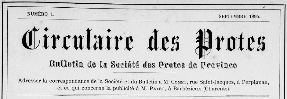 Photo (Médiathèque (Perpignan)) de : Circulaire des protes. Perpignan, 1895-[198?]. ISSN 1625-1695.