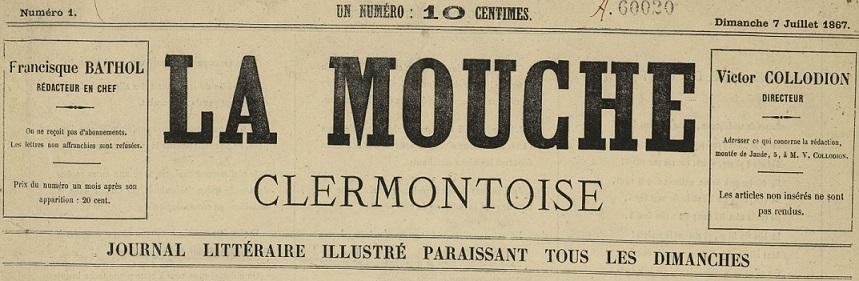 Photo (Bibliothèque du patrimoine de Clermont Auvergne métropole) de : La Mouche clermontoise. Clermont-Ferrand, 1867. ISSN 2132-6096.