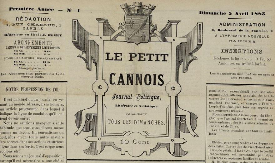 Photo (Cannes (Alpes-Maritimes). Archives municipales) de : Le Petit Cannois. Cannes, 1885-[1929 ?]. ISSN 2134-0153.