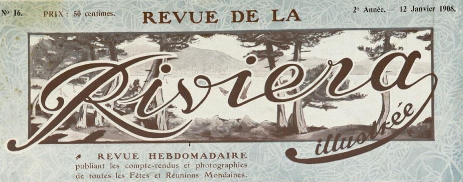 Photo (Cannes (Alpes-Maritimes). Archives municipales) de : Revue de la Riviera illustrée. Cannes: E. Baussy, 1906-[1921 ?]. ISSN 2017-8387.