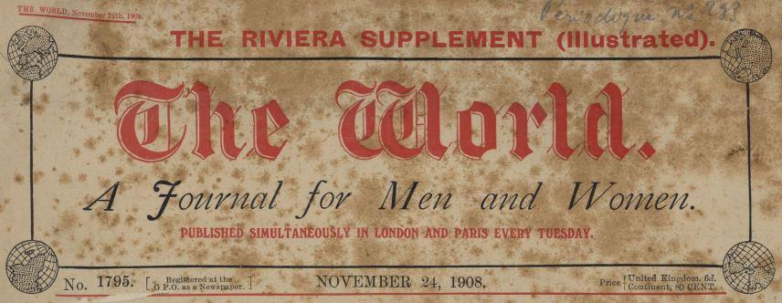 Photo (Cannes (Alpes-Maritimes). Archives municipales) de : The World. London, 1874-1922