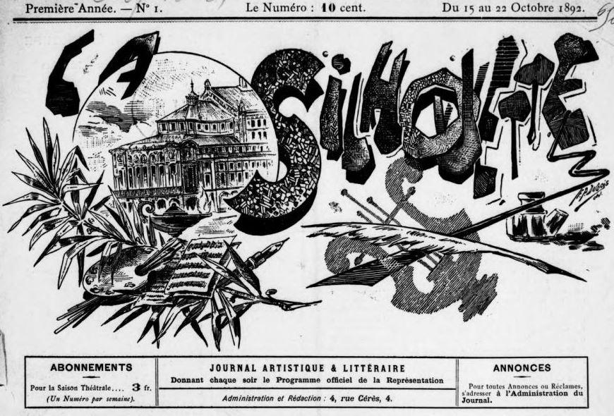 Photo (BnF / Gallica) de : La Silhouette. Reims, 1892-[1892 ?]. ISSN 2138-1224.