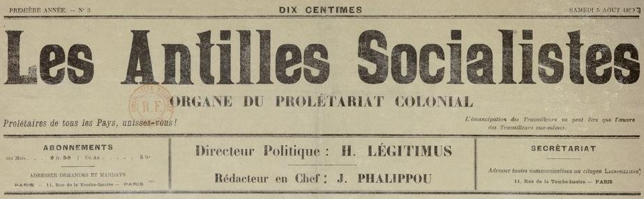 Photo (BnF / Gallica) de : Les Antilles socialistes. Paris, 1899-[1899 ?]. ISSN 2426-1904.