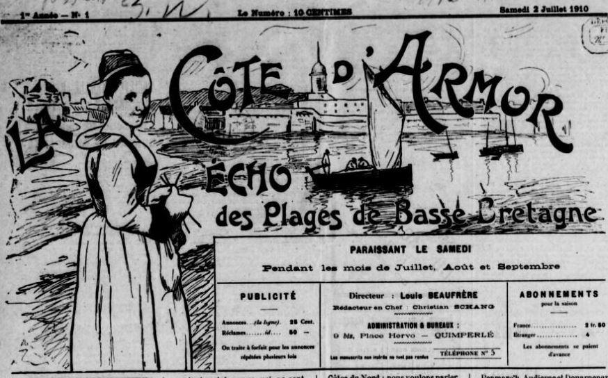 Photo (BnF / Gallica) de : La Côte d'Armor. Quimperlé, 1910-1914. ISSN 2124-5584.