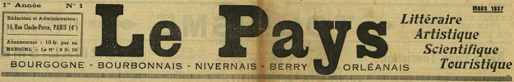 Photo (Allier. Archives départementales) de : Le Pays. Paris, 1937-1939. ISSN 2133-7829.