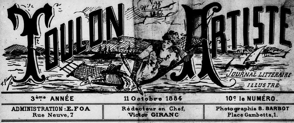Photo (BnF / Gallica) de : Toulon artiste. Toulon, 1882-[1886 ?]. ISSN 2018-350X.