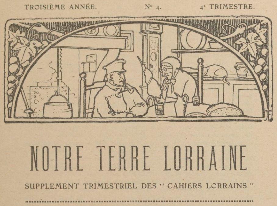 Photo (BnF / Gallica) de : Note térre lôrraine. Liocourt, 1921-[1938 ?]. ISSN 1963-6059.