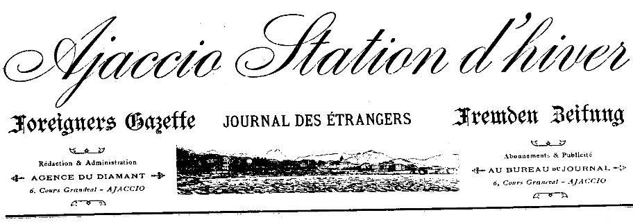 Photo (Archives de la Collectivité de Corse – Pumonti) de : Ajaccio station d'hiver. Ajaccio, 1901-[1905 ?]. ISSN 2120-5272.