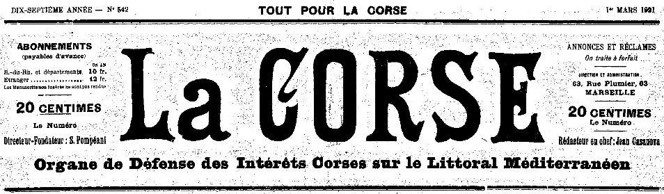 Photo (Archives de la Collectivité de Corse – Pumonti) de : La Corse. Marseille, 1905-[1936 ?]. ISSN 2124-5010.