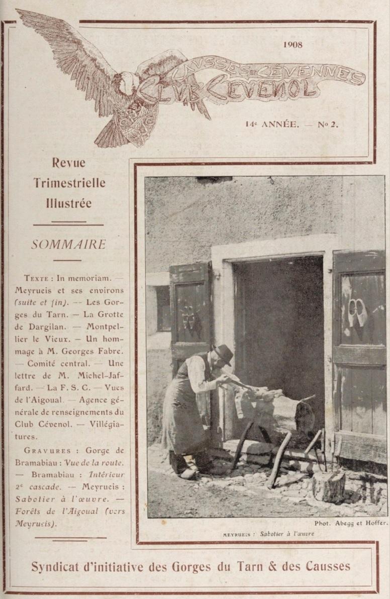 Photo (BnF / Gallica) de : Causses et Cévennes. Paris: Club cévenol, 1908-1938. ISSN 1146-8653.