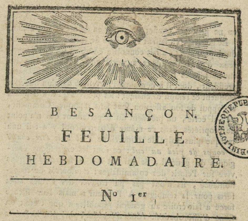 Photo (Bibliothèque municipale (Besançon)) de : Besançon. Besançon, 1793. ISSN 2016-1220.